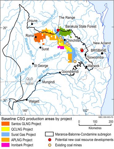 Map of the Maranoa-Balonne-Condamine subregion