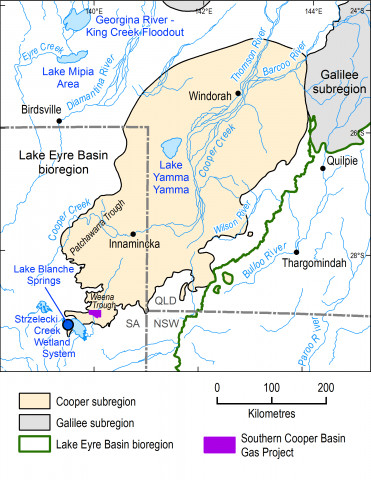 Map of the Cooper subregion