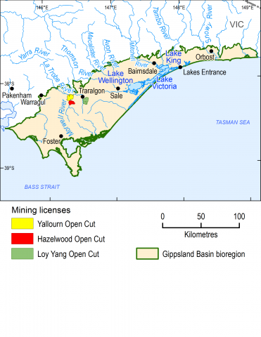 Map of the Gippsland Basin bioregion