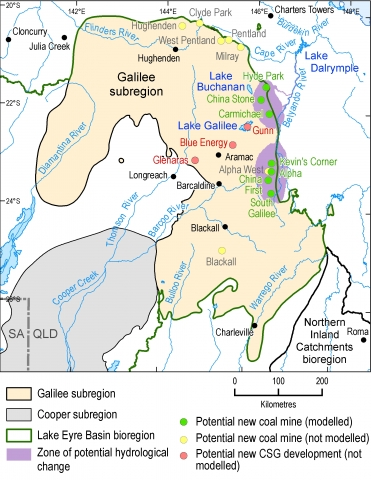 Map of the Galilee subregion